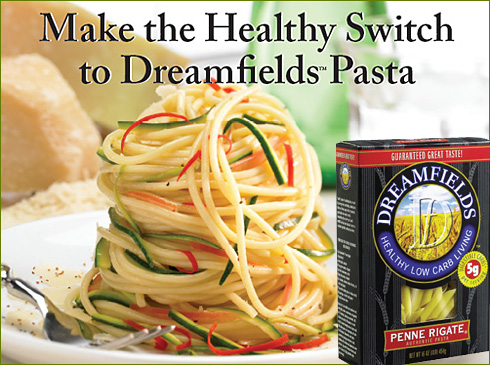 Low carbohydrate pasta